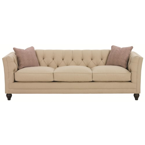 Robin Bruce Stevens Tuxedo Styled Sofa with Deep Tufted Cushion Back