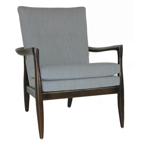 Rowe Chairs and Accents Harris Wood Frame Accent Chair