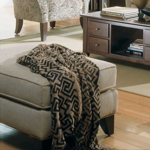 Rowe Notting Hill Transitional Footrest Ottoman