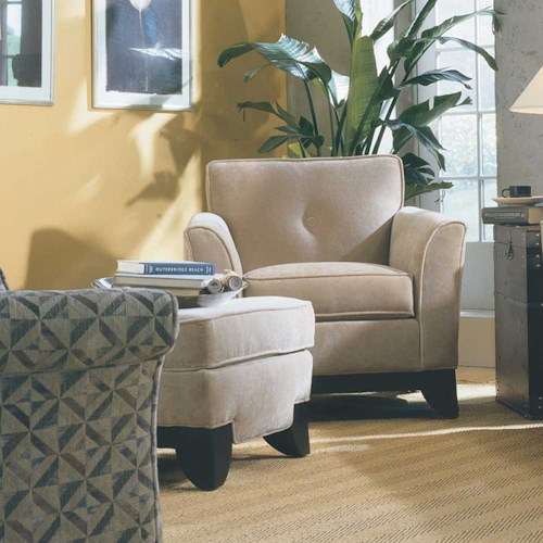 Rowe Berkeley Accent Chair and Ottoman