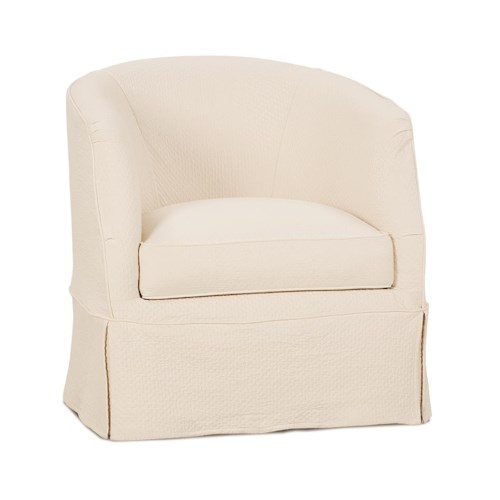 Rowe Ava Traditional Swivel Chair with Slipcover