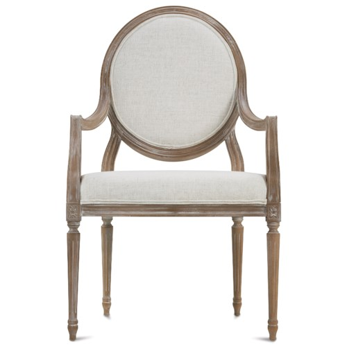 Rowe Bailey Traditional Exposed Wood Accent Chair
