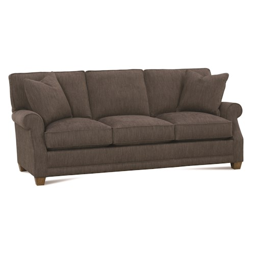 Rowe Baker Transitional Sofa with Rolled Arms