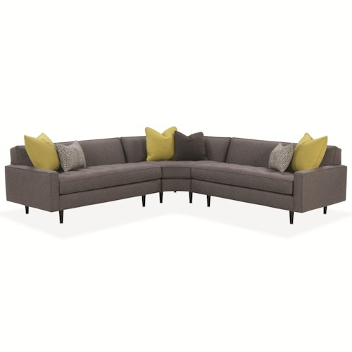 Rowe Brady  Contemporary Sectional Sofa with Track Arms