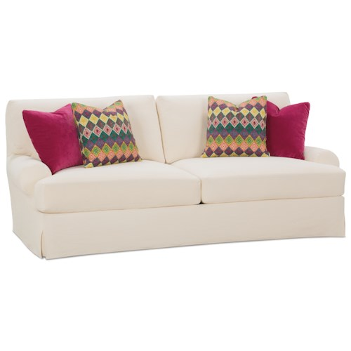 Rowe Branson Contemporary Sofa with Rolled Sock Arms