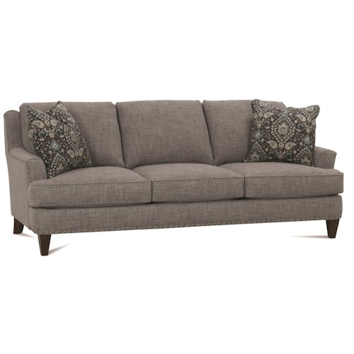 Rowe Brenner Traditional Sofa with Nailhead Trim