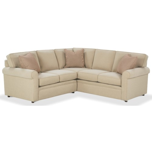 Rowe Brentwood Rolled Arm Sectional Sofa