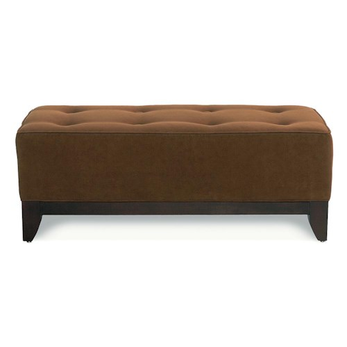 Rowe Brooklyn Rectangular Upholstered Bench Ottoman