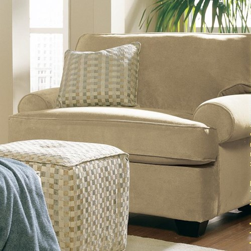 Rowe Cabin Upholstered Chair with Toss Pillow