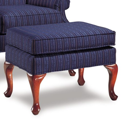 Rowe Chairs and Accents Cabriole Legged Ottoman