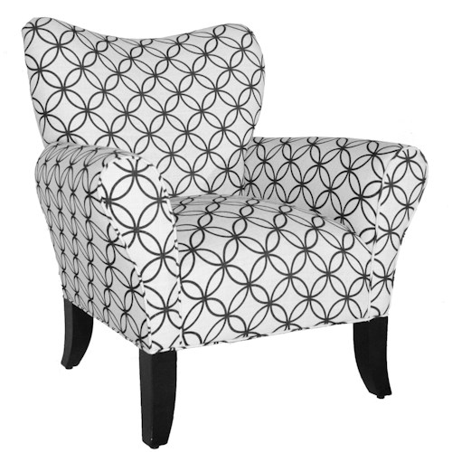 Rowe Chairs and Accents Piccadilly Resting Chair with Heart Shaped Back