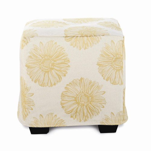 Rowe Chairs and Accents Le Parc Slipcover Accent Ottoman