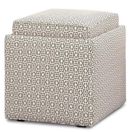 Rowe Chairs and Accents Nelson Cube Ottoman with Storage