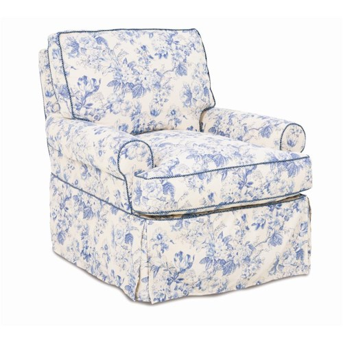 Rowe Chairs and Accents Sophie Swivel Glider with Skirt
