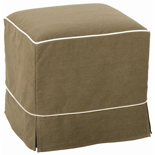 Rowe Chairs and Accents Parker Square Accent Ottoman with Slipcover