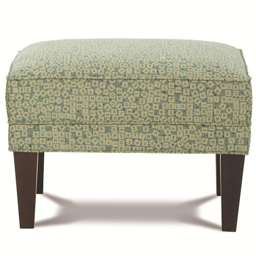 Rowe Chairs and Accents Willard Contemporary Rectangular Ottoman