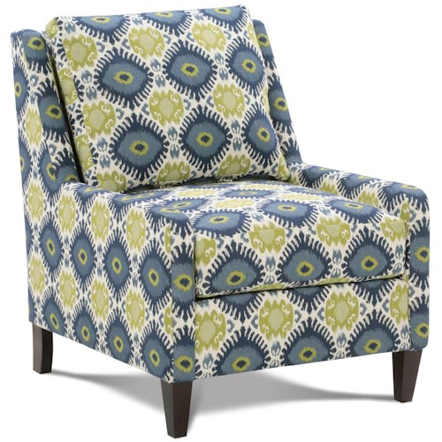 Rowe Chairs and Accents Tasker Accent Chair with Low Profile Arms