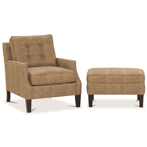 Rowe Chairs and Accents Cole Upholstered Chair and Ottoman Set