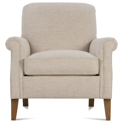 Rowe Channing Transitional Chair with Rolled Arms and Tight Seat Back