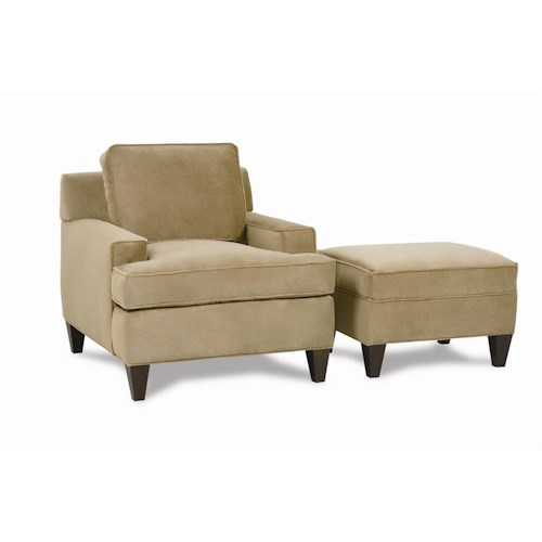 Rowe Chelsey Upholstered Chair and Ottoman
