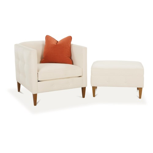 Rowe Claire  Contemporary Chair and Ottoman