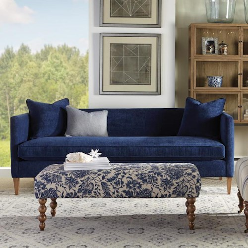 Rowe Claire  Contemporary Tuxedo Sofa with Tapered Feet