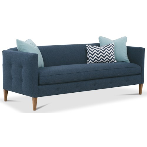 Rowe Claire  Contemporary Bench Cushion Sofa