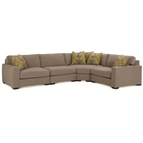 Rowe Dakota 4 Piece Contemporary Sectional Sofa