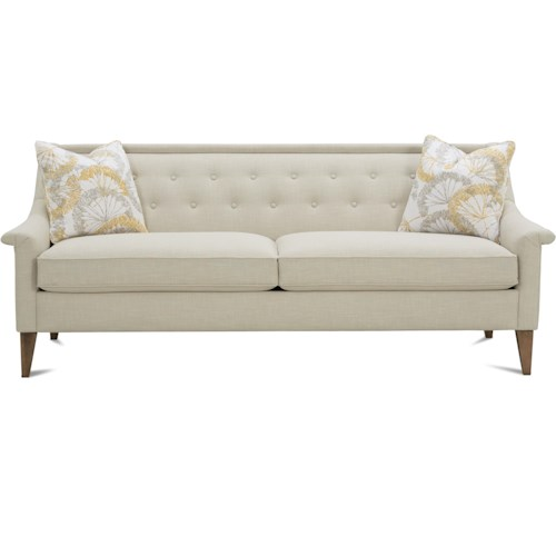 Rowe Dax Traditional Sofa with Button Tufting