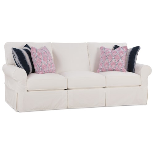 Rowe Easton Casual Queen Sleeper Sofa with Slipcover