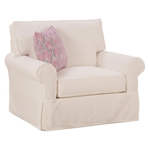 Rowe Easton Casual Chair and a Half with Slipcover