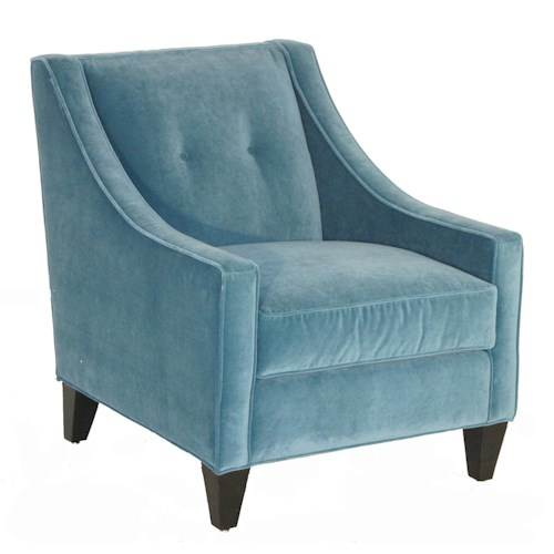 Rowe Eero Upholstered Accent Chair with Button Tufting