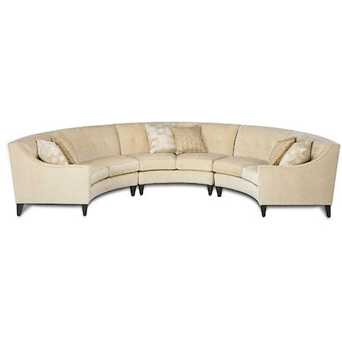Rowe Eero Half Circle Sectional Sofa