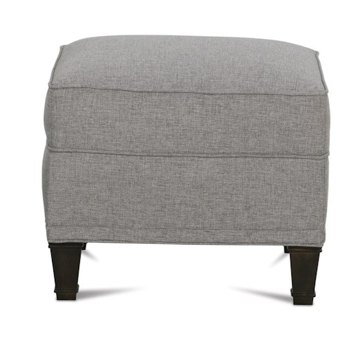 Rowe Gibson Ottoman with Exposed Wood Feet