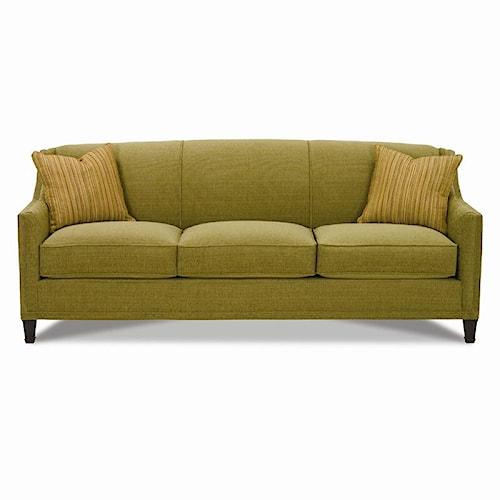 Rowe Gibson Sofa with Exposed Wood Feet