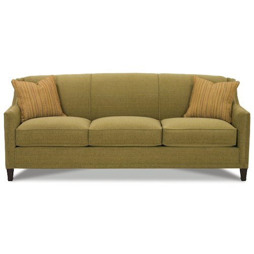 Rowe Gibson Sofa with Exposed Wood Feet
