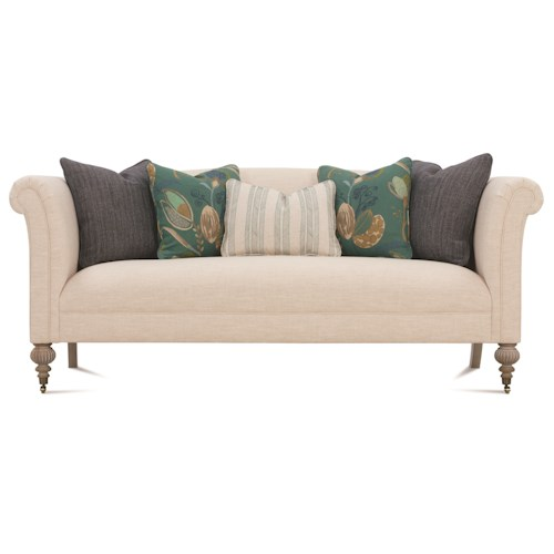 Rowe Jenna Traditional Chesterfield Sofa with Rolled Arms