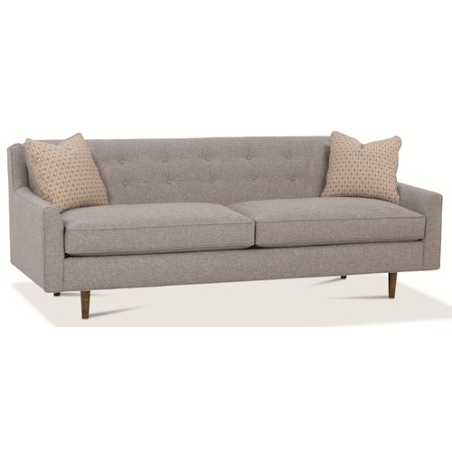 Rowe Kempner Stationary Sofa with Button Tufting