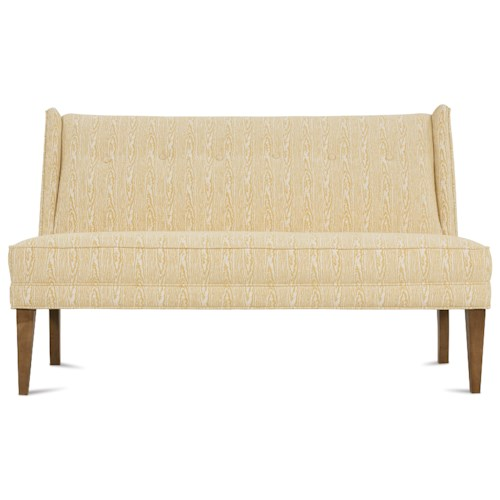 Rowe Leigh Contemporary Armless Settee with Tufted Back