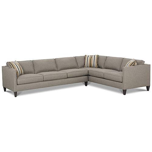 Rowe Mitchell <b>Customizable</b> Contemporary Sectional Sofa