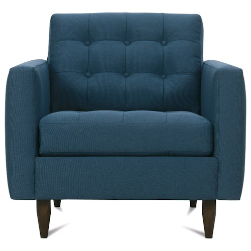 Rowe Modern Mix Contemporary Chair with Tufted Seat Back
