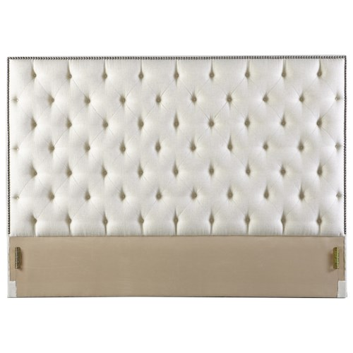Rowe My Style - Beds Hamilton 54'' Queen Headboard with Tufting and Nailhead Trim
