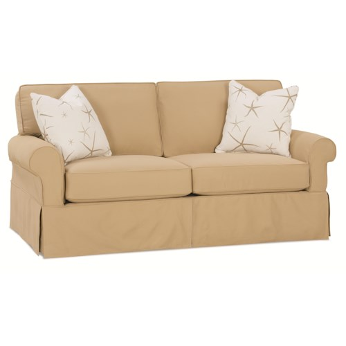 Rowe Nantucket  Transitional Sleeper Sofa with Skirted Base