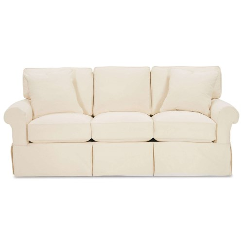Rowe Nantucket  Casual Queen Sleeper Sofa with Rolled Arms