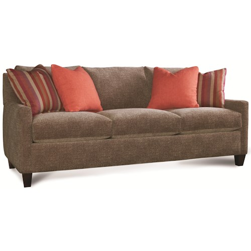 Rowe Norah Contemporary Three Seat Sofa with Track Arms
