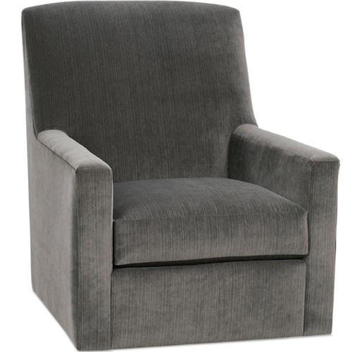 Rowe Owen Casual Swivel Glider with Track Arms