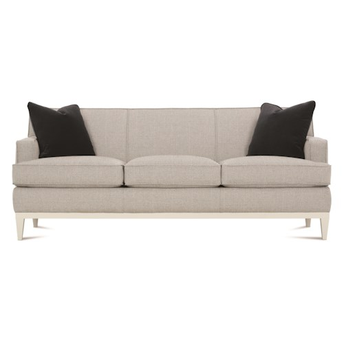 Rowe Ryder Contemporary Sofa with Exposed Wood Detail
