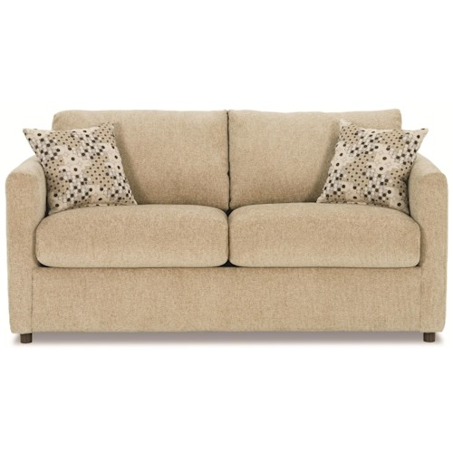 Rowe Stockdale Contemporary Two Cushion Full Sleeper Sofa