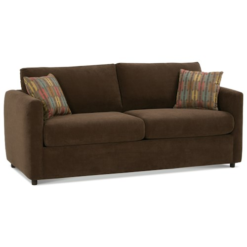 Rowe Stockdale Contemporary Queen Sleeper Sofa with Track Arms
