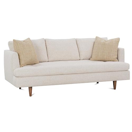 Rowe Theo 79 Inch Modern Track Arm Sofa